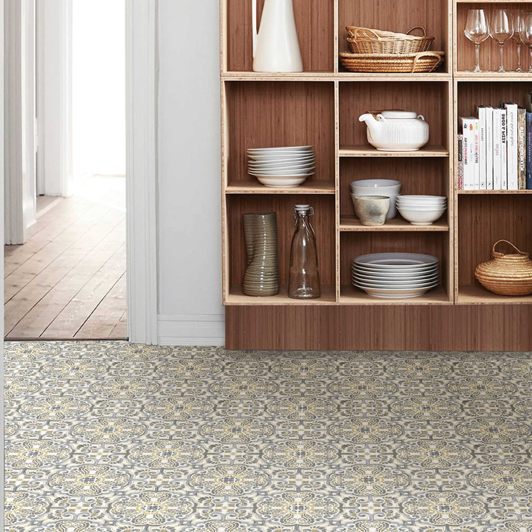 FloorPops Antico Peel & Stick Floor Tiles 10 Tiles/10 sq. ft.
