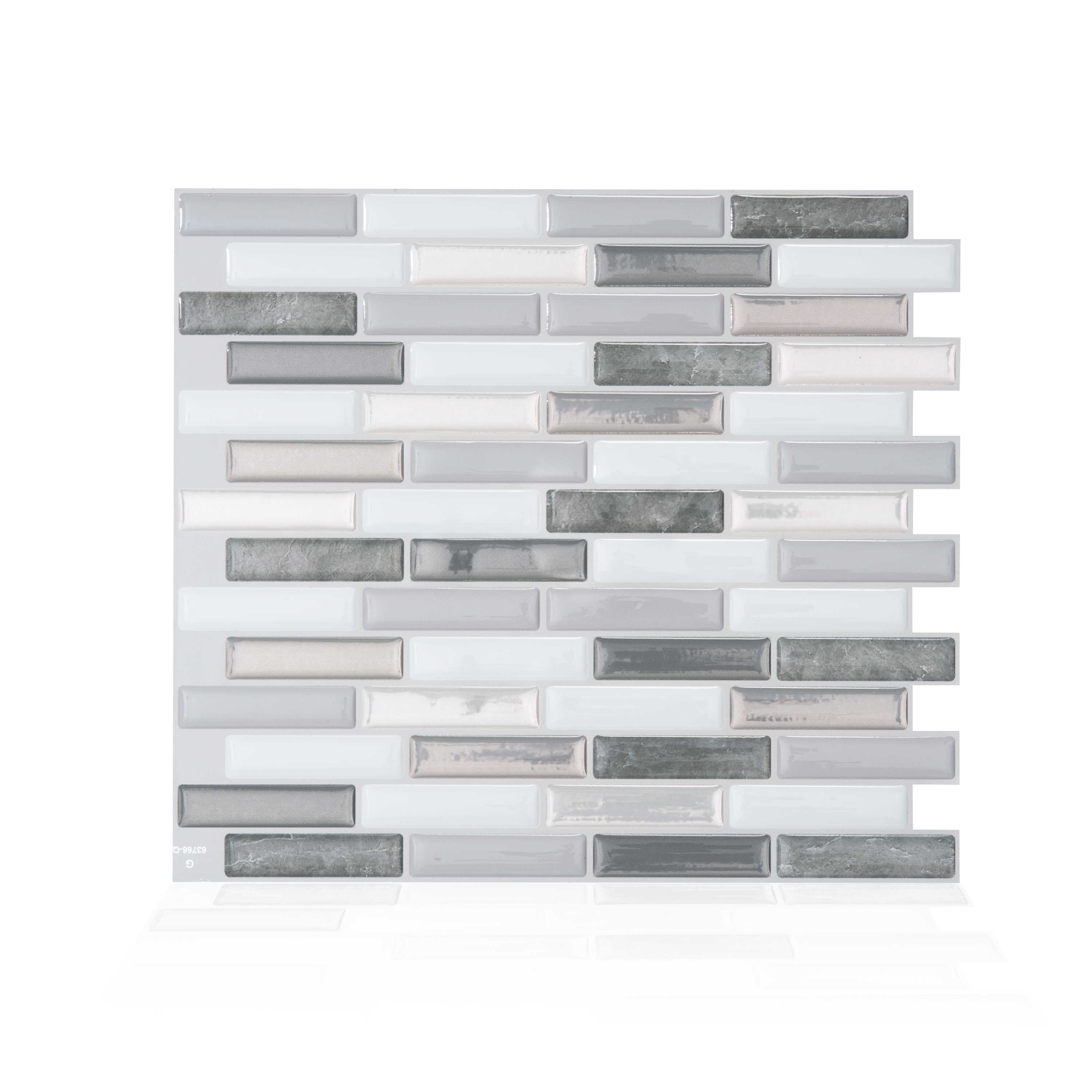 Smart Tiles 10.20 in x 9 in Peel and Stick Self-Adhesive Mosaic Backsplash Wall Tile - Milenza Bigio (each)