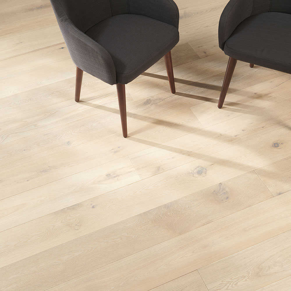 Flooors by LTL White Lacquer 35/64 in. Thick x 7-31/64 in. Wide x 74-51/64 in. Length Engineered Hardwood Flooring