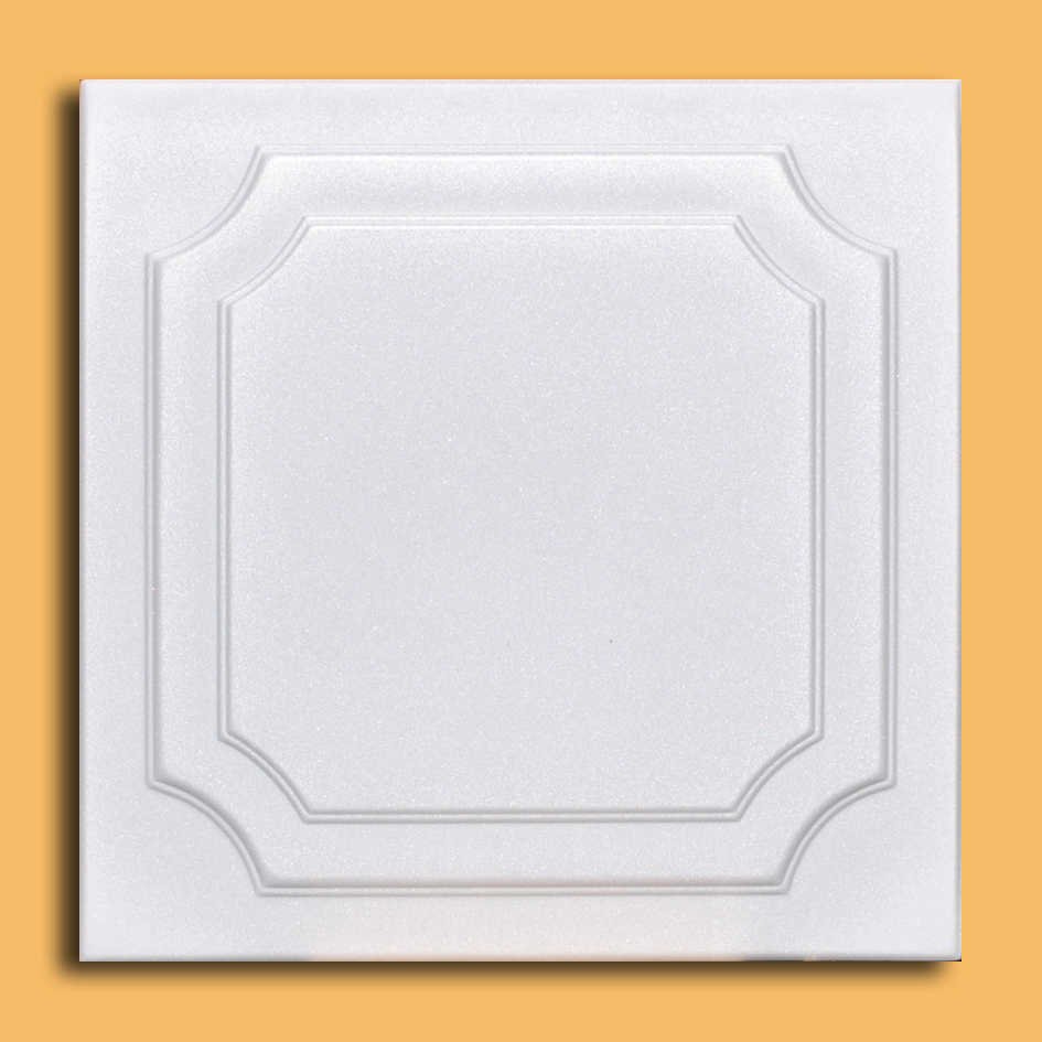 White Styrofoam Ceiling Tile Yalta (Case of 40 Tiles) - same as The Virginian and R08