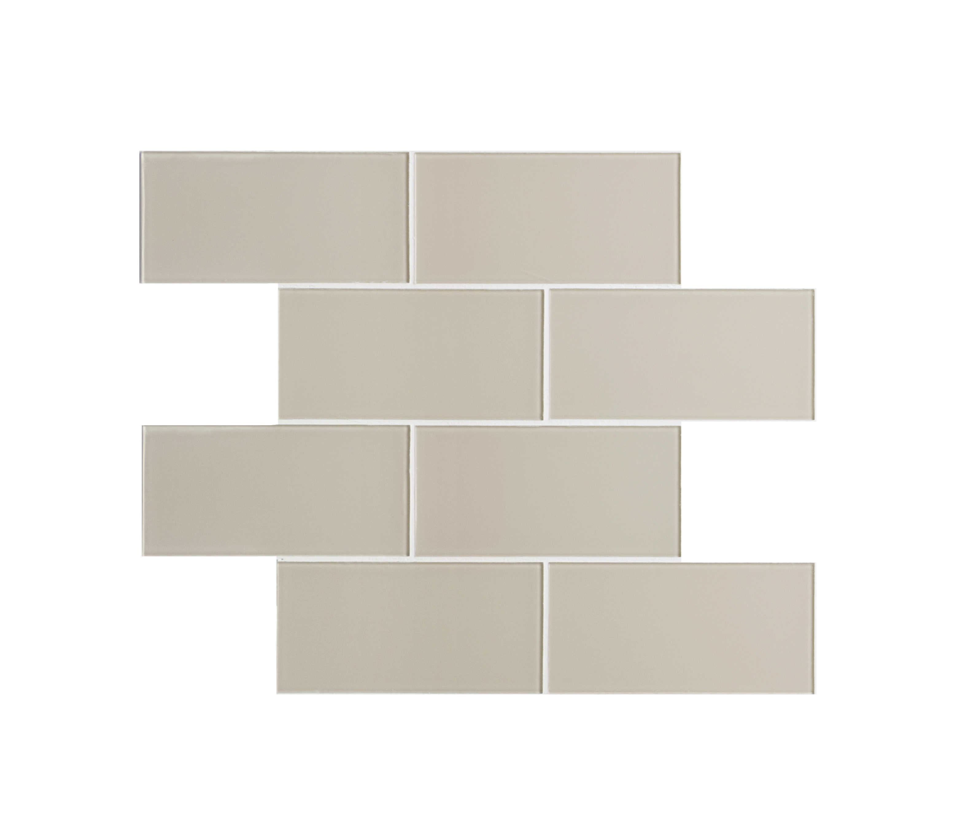 Quality Value Series 3' x 6' x 4mm Glass Subway Tile in Glossy Icy Gray - 8 square feet carton