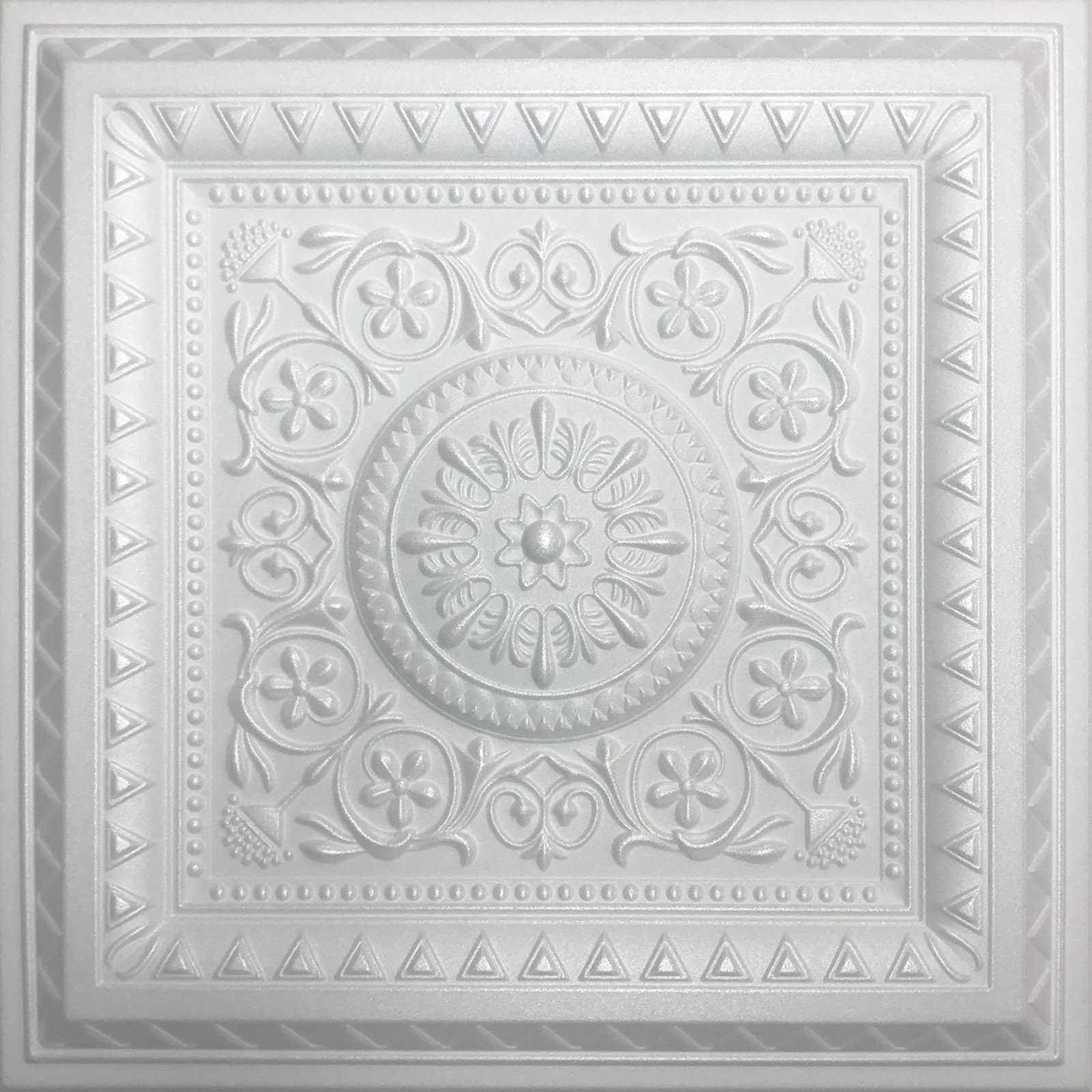 White Styrofoam Ceiling Tile Magic (Package of 8 ceiling tiles)
