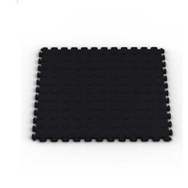 Raised Coin Multi-Purpose PVC Flooring- 6-Pack- Black